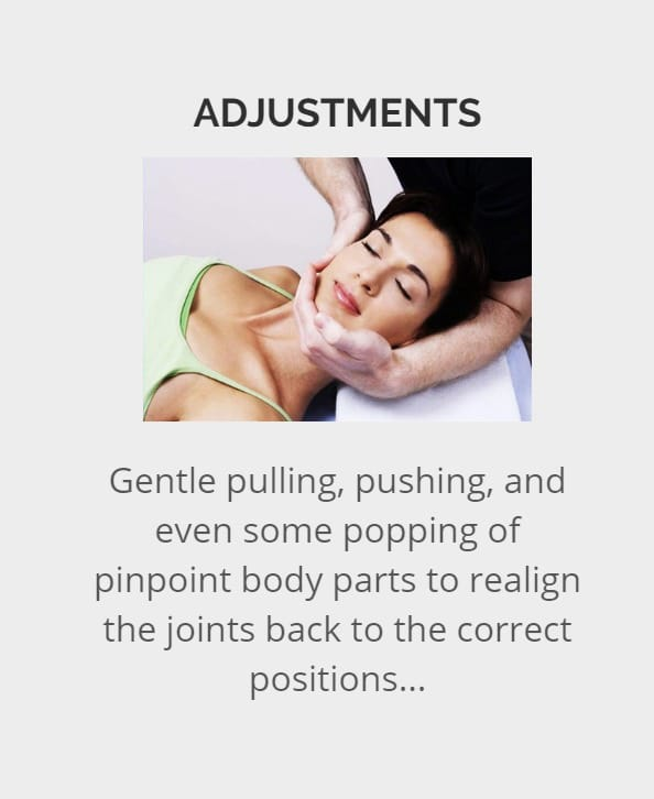 Message to chiropractic Adjustment Dallas