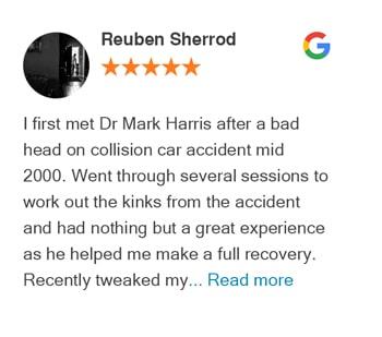 Reuben Sherrod google review for Trinity Mills Chiropractic