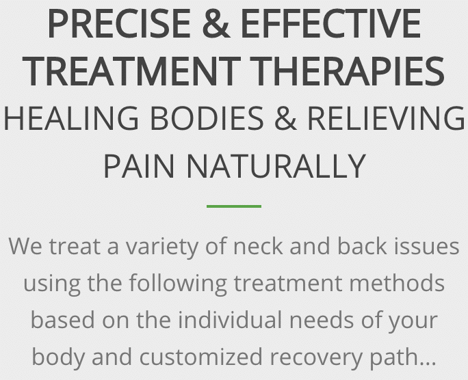 Effective chiropractic treatment therapies Dallas