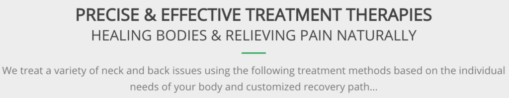 Precise and effective treatment